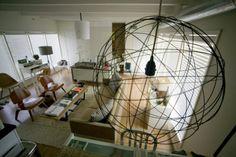 Wire Ball Pendant Light
