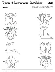 Capital Letter H Upper And Lowercase Letters, Lower Case Letters, Lowercase A, Learning To Write, Writing Practice, Alphabet Practice Sheets, Scary Vampire, Halloween Letters, Monster Costumes