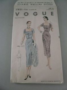 Vintage Vogue Pattern 7951  Misses Slim by VintagePatternDrawer