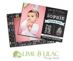 chalkboard birthday Template invite invitation by LimeandLilac, $8.00