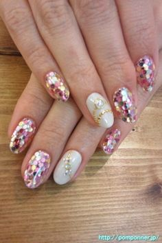 Gel nail fill the hologram