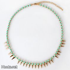 Mint Gold Necklace $20 + worldwide shipping #summer #spring #accessory #fashion #jewelry