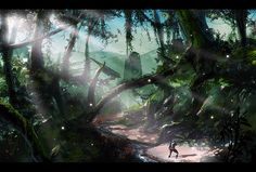 jungle landscapes painting - Google Search