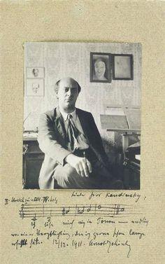 Image result for arnold schoenberg letter to kandinsky