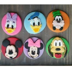 Mickey Mouse Minnie Goofy Donald Daisy Pluto by BigTopsCakeShop