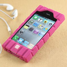 Apple iPhone 4 Silicone Grip Chocolate Skin Case - Kinds Of Colors