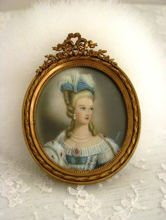 Marie Antoinette ~~a beautiful French hand painted miniature of the Queen.
