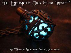 Glowies.net - Enchanted Orb Glow Locket with UV Light & 4 Glow Colors