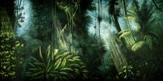 Jungle Book backdrops for your next play or event for every scene from our theater backdrop rental inventory. Jungle Safari, Jungle Theme, Peter And The Starcatcher, Jungle Illustration, Lion King Jr, Set Design, Stage Design, Wonders Of The World, Alice In Wonderland