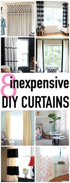 8 super stylish and easy DIY Curtain tutorials - Click for more ideas - www.classyclutter.net