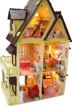 pictures of doll furniture | 12 scale doll house furniture miniature,3d wooden diy doll house ...