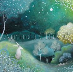 Art print titled ,'Starlight'  from an original painting by Amanda Clark