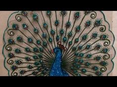 How To Create a Beautiful Plastic Peacock Design - DIY Crafts Tutorial - Guidecentral - YouTube