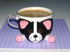 Dessous de verre pour les boissons Stand de chien bouledogue Français pour la…