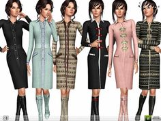 Wool Coats by Ekinege  http://www.thesimsresource.com/downloads/1178324