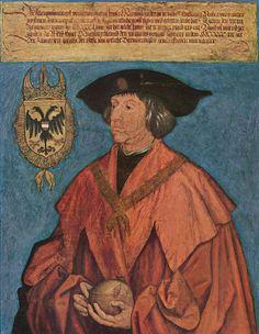 Giclee Print: Portrait of Emperor Maximilian I C. 1512 by Albrecht Dürer : Albrecht Durer Paintings, Albrecht Dürer, Hans Holbein, Kaiser Maximilian, List Of Paintings, Oil Paintings, Empire Romain, Renaissance Paintings, Renaissance Art