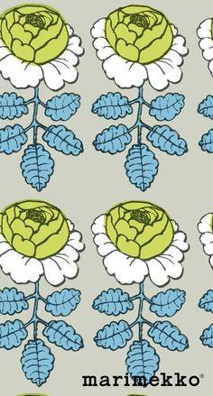 マリメッコ/花柄9 iPhone壁紙 Wallpaper Backgrounds iPhone6/6S and Plus  Marimekko Floral Pattern iPhone Wallpaper