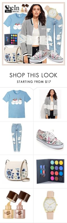 """""""GREY AND WHITE JACKET"""" by elci-el ❤ liked on Polyvore featuring Topshop, Vans, French Connection and Nine West"""