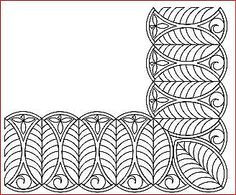 Blocks and borders :: Bramley Rose Machine Quilting Patterns, Longarm Quilting, Free Motion Quilting, Hand Quilting, Quilting Designs, Embroidery Patterns, Quilt Patterns, Quilting Ideas, Line Geometry