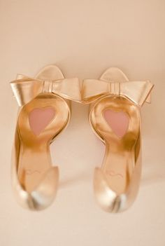 Add some rose gold to your wedding ensemble with these gorgeous bow heels