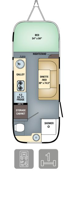 "2016 Airstream Sport Floorplans & Specs (Airstream ""Bambi"" Sport 22 FB)"