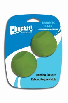 Chuck It Erratic Ball - Medium (2 PACK)  Designed for the most demanding use by a growing population of fetch enthusiasts, these are not ordinary balls for dogs.