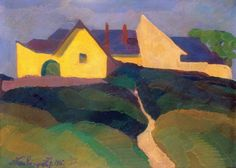 "Nemes Lamperth Josef "" Street on the side of Gellert Hill"" Hungarian Painter Ale, Art Gallery, Utca, Street, Exhibitions, Paintings, Artists, Idea Paint, Beer"