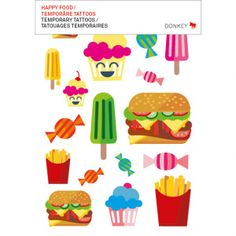 TATTOO HAPPY FOOD / STYLE TATTOOS by Donkey Products