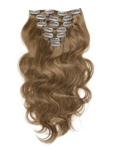 【70g-120g 7pcs Body Wavy Clip In Remy Hair Extensions