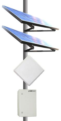 """Remote #SolarPowerKit -: Remote Power Kit is designed for applications where power is needed but no power is available. The high quality solar panels have a 20-25 year power output guarantee. The solar panels come with a specific pole mount that can be mounted to a 2"""" to 6"""" diameter pole depending on the model. http://avalanwireless.com/shop/awsk600w-600-watt-remote-solar-power-kit/"""