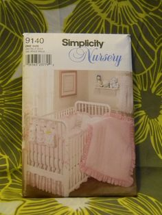 Simplicity 9140 Nursery Crib Bedding Set Uncut