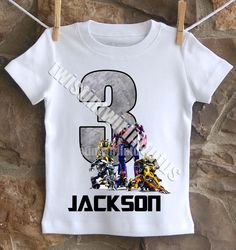 Transformers Birthday Shirt, Boys Birthday Shirt, by TwistinTwirlinTutus on Etsy https://www.etsy.com/listing/199802874/transformers-birthday-shirt-boys