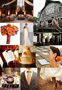 Fall wedding idea's
