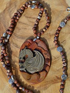Stone Dragon Celtic Jewelery Set by DebWiseCreations on Etsy