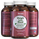 Pure & Natural Raspberry Ketones  Green Tea  Green Coffee Bean Extract  Garcinia Cambogia Supplement For Men & Women  Potent Weight Loss Pills  Appetite Suppressant  Fat Burner  Tevare