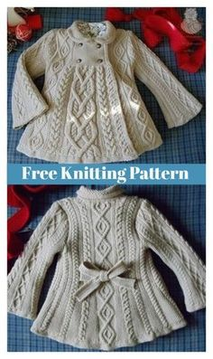 Elizabeth Coat Free Knitting Pattern #freeknittingpattern