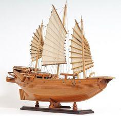 Chinese Junk Model Sailboat