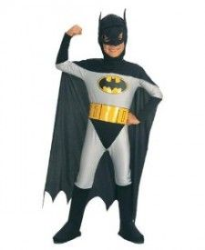 Childs Batman Costume  hier is de cape zwart (gesprekje met F. over kleur van een batmancape)