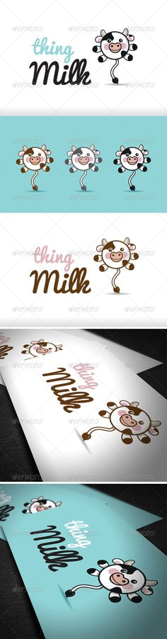 Thing Milk Logo Template  #GraphicRiver         Easy to edit with organized layers. Vector logo Resisable; Vector Horizontal and Vertical display;