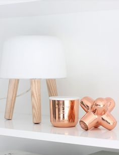 Via Nordic Leaves | Copper and White | Tom Dixon Cast Mini Jack and Candle | Norm Milk Light