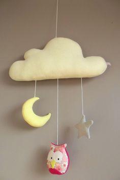 mobile nuage chouette