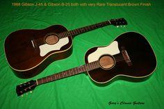 Very Rare Translucent Brown Gibson Flattops  http://www.garysguitars.com/catalog/1968-gibson-j-45-rare-brown-finish-gia0530      http://www.garysguitars.com/catalog/1968-gibson-b-25-rare-translucent-brown-gia0621