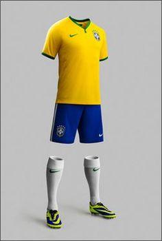 28d796ac3d6 Nike Reveal Brazil 2014 World Cup Kit - Football.