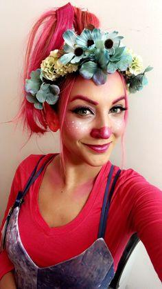 Princess poppy trolls Halloween makeup