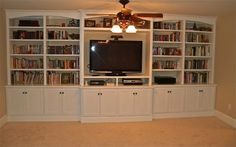 Built-in entertainment center/bookshelves