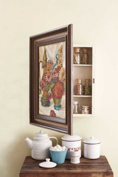 Turn a thrifted piece of art into a useful storage space. Get the tutorial.