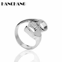 Fashion Hip Hop Jewelry  Tools Wrench Rings Open Men Women Punk accessories Finger Ring #Affiliate