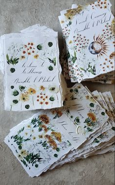 Wedding stationery suite with on the day menus, ceremony and welcome booklets Perfect Wedding, Our Wedding, Dream Wedding, Wedding Shoes, Rustic Wedding, Wedding Rings, French Wedding, Handmade Wedding, Wedding Cards