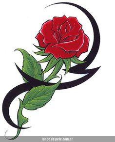 desenhos de flores tribais - Pesquisa Google