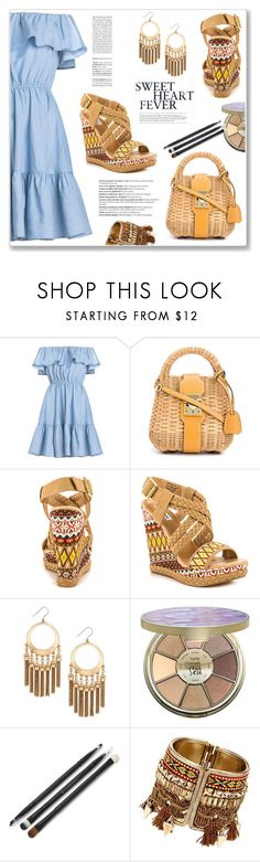 """""""Sweetheart Fever"""" by christinacastro830 ❤ liked on Polyvore featuring Mark Cross, Not Rated, INDIE HAIR, Lucky Brand, Balmain and tarte"""